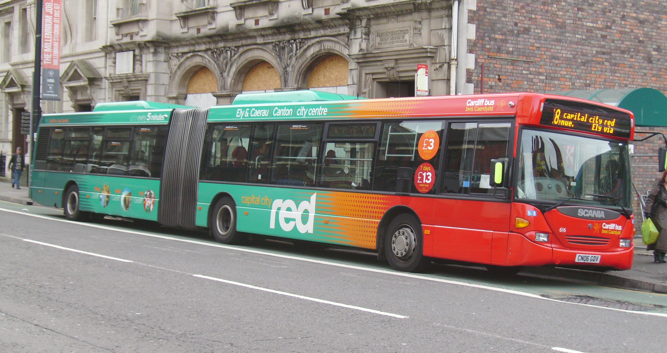 Cardiff bus No 17 and 18 buses